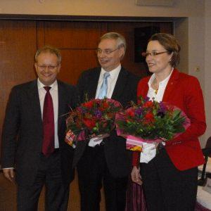 Sieger Manfred Gönsch und Herausforderin Dr. Ilja-Kristin Seewald
