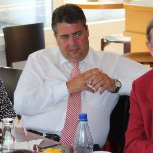 Landtagskandidatin Elke Barth, Sigmar Gabriel, Bundestagskandidat Elke Barth