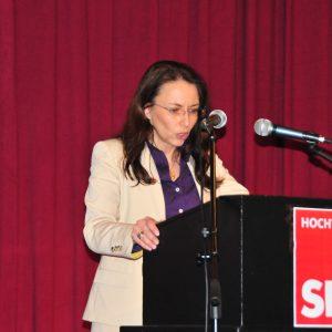 SPD Generalsekretärin Yasmin Fahimi bei Ihrer Rede