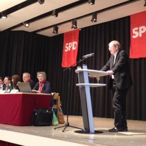 Schabedoth bei seiner Rede auf der Wahlkreiskonferenz in Neu-Anspach